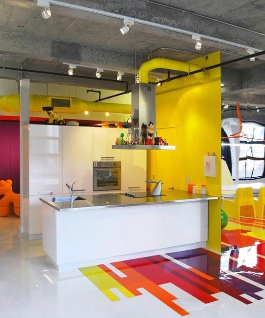 cozinha-piso-colorido
