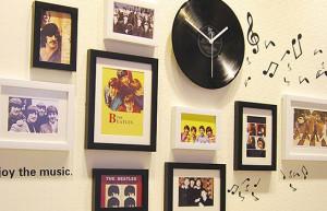 Adesivos rock and roll pra parede