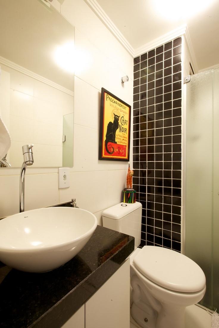 Banheiros Pequenos  Referênci -> Banheiro Decorado Com Material Reciclado