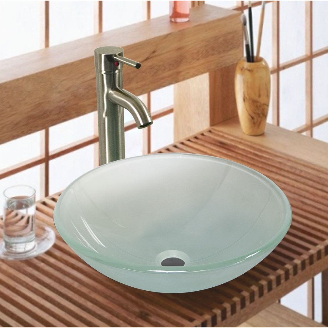 Banheiros Pequenos  Referências -> Pia De Banheiro Cristal