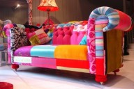 sofá colorido para sala