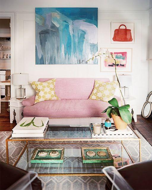 sofa-rosa-ambiente-classico