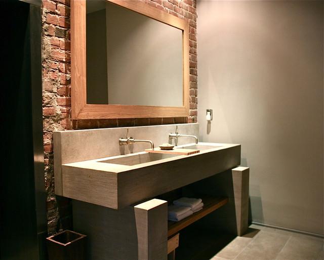 Tijolo à Vista  Referências pra sua casa  Haus Decoração -> Bloco Pia De Banheiro Em Vista