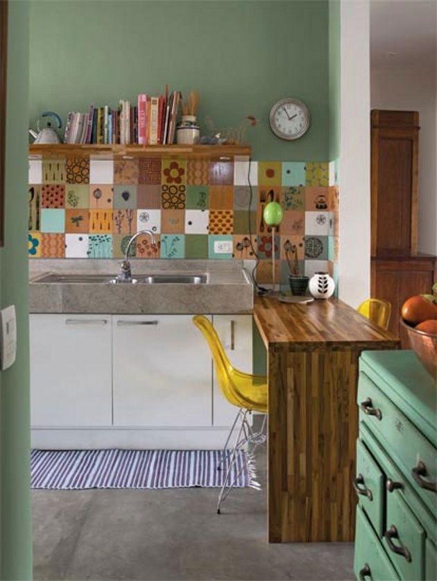 Balcão de Cozinha  15 referências  Haus Decoração # Bancada Cozinha Simples