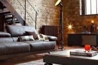 sala-rustica-com-moveis-modernos