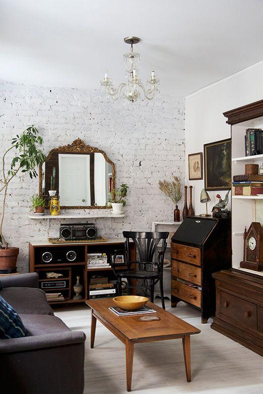 decoracao tijolo branco : decoracao tijolo branco:rústico domina. Móveis e decoração ganham destaque no ambiente