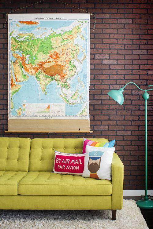 sofa-amarelo-na-sala