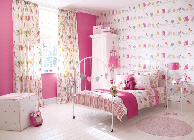 papel-de-parede-infantil-rosa