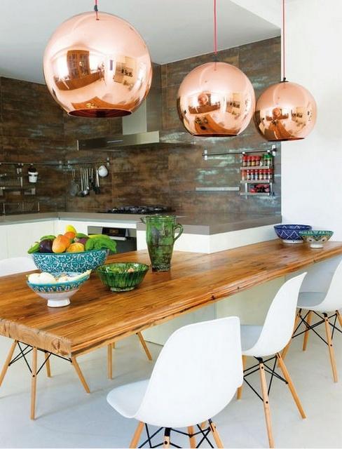 pendentes-de-cobre-mesa-jantar