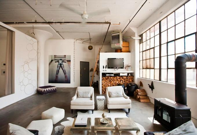 sala-industrial-com-lareira-em-ferro