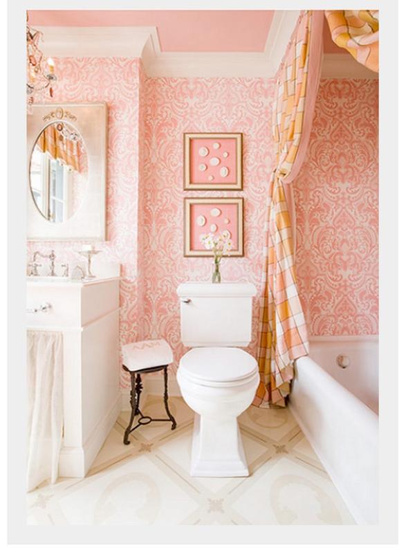 banheiro-papel-de-parede-rosa
