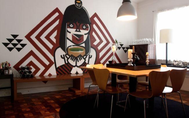 grafite-parede-sala-jantar