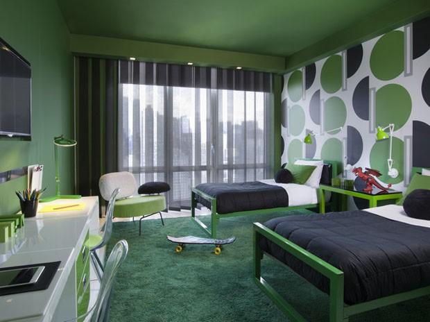 16 Ambientes Coloridos Haus Decoração ~ Quarto Rosa E Verde