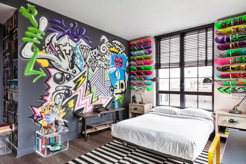 quarto-decoracao-skate-parede