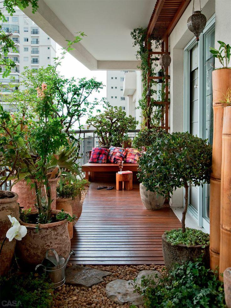 mini jardim apartamento:Mini Jardim Na Varanda De Apartamento Fotos Como Decorar Pictures to