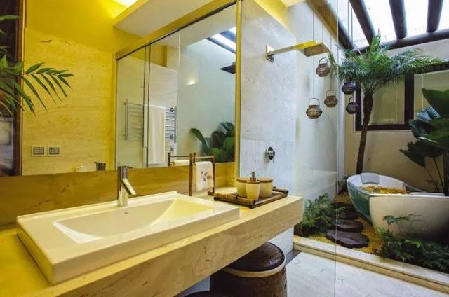 Jardim de inverno  16 exemplos  Haus Decoração -> Decoracao Banheiro Spa