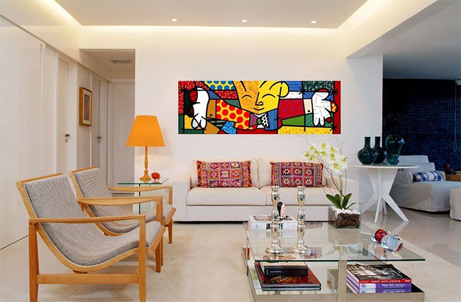 tela-the-hug-romero-britto