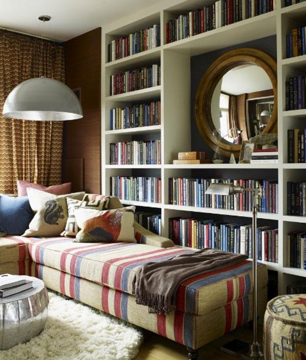 chaise-longue-em-biblioteca-em-casa