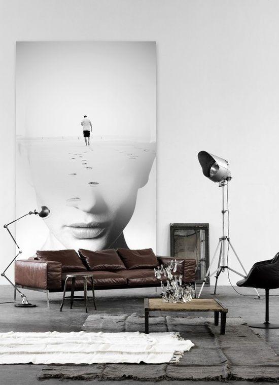 sala-retro-com-quadro-moderno