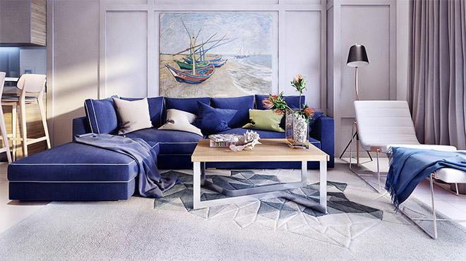 sofa-azul-sala-casa-praia