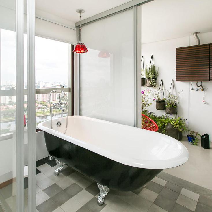 banheira-classica-apartamento-loft