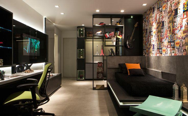 mosaico-colagem-parede-quarto-masculino