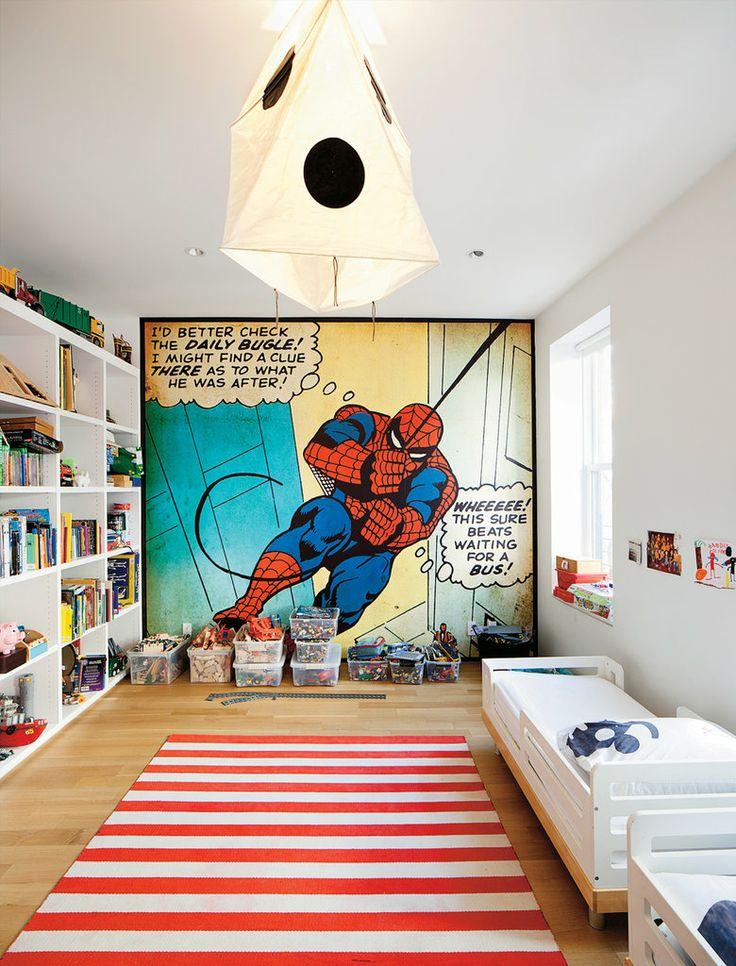 painel-homem-aranha-sala-infantil