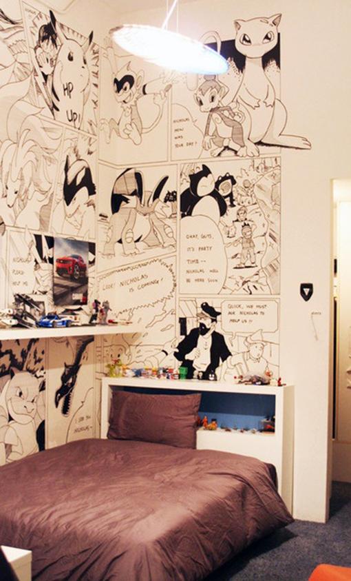 quadrinhos-na-parede-do-quarto
