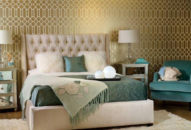 turquesa-e-dourado-decor-quarto