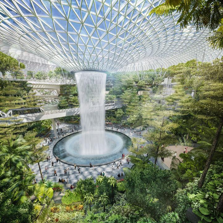 cascata-aeroporto-de-singapura