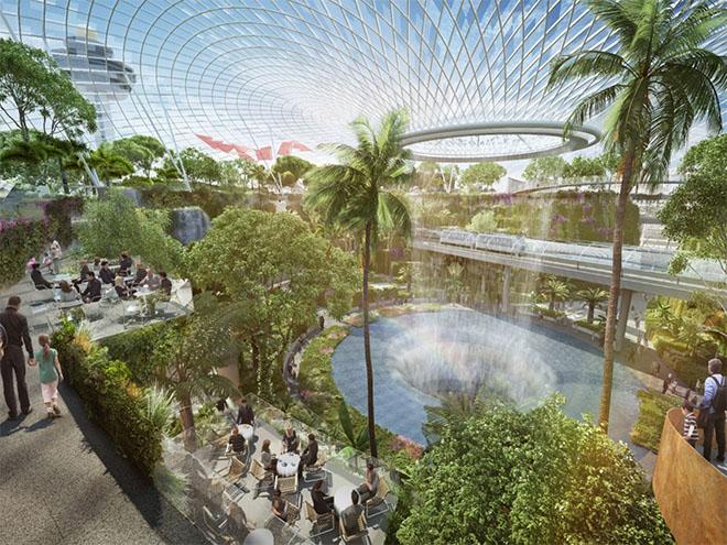 jardim-interno-aeroporto-de-singapura