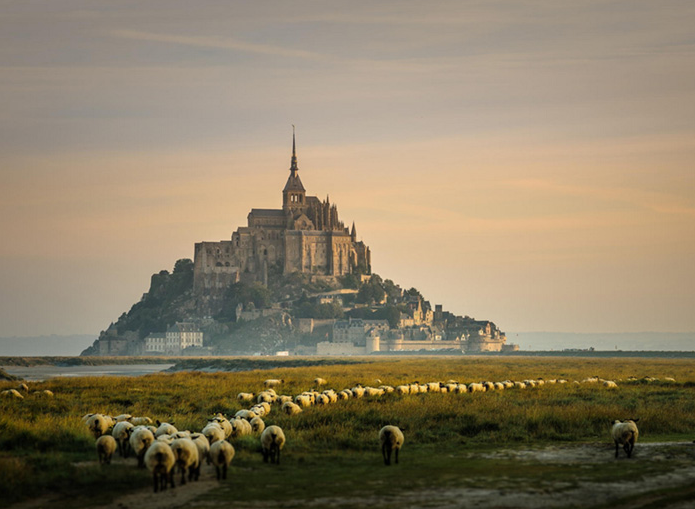 Castelo Monte Saint-Michel na França