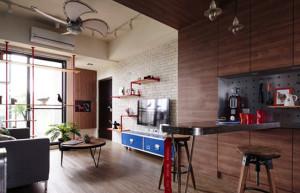 Apartamento cheio de detalhes criativos